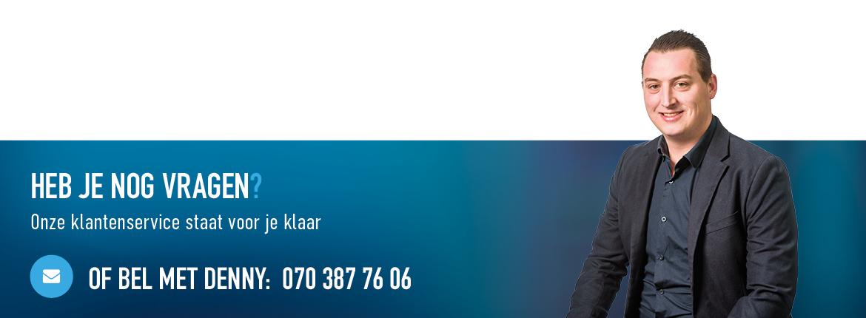voor vragen kan je altijd bellen naar 070 387 7606